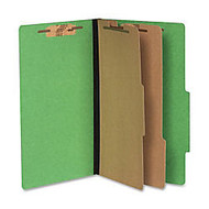 ACCO; Color Life Presstex Top-Tab Folders, Legal Size, 30% Recycled, Green, Box Of 10