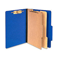 ACCO; Color Life Presstex Top-Tab Folders, Letter Size, 30% Recycled, Blue, Box Of 10