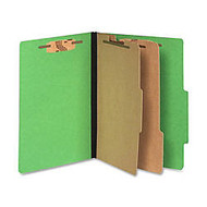 ACCO; Color Life Presstex Top-Tab Folders, Letter Size, 30% Recycled, Green, Box Of 10