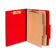 ACCO; Color Life Presstex Top-Tab Folders, Letter Size, 30% Recycled, Red, Box Of 10