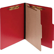 ACCO; ColorLife; PRESSTEX; 4-Part Classification Folders, Letter, Red, Box of 10 - Letter - 8 1/2 inch; x 11 inch; Sheet Size - 2 inch; Expansion - 4 Fastener(s) - Presstex - Executive Red - 10 / Box