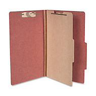 ACCO; Durable Pressboard Classification Folders, Legal Size, 2 inch; Expansion, 1 Partition, 60% Recycled, Earth Red, Box Of 10