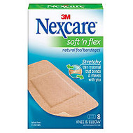 3M™ Nexcare™ Comfort Knee/Elbow Bandages, 1 7/8 inch; x 4 inch;, Pack Of 8