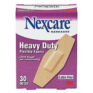 3M™ Nexcare™ Heavy-Duty Flexible Fabric Bandages, 1 1/8 inch; x 3 inch;, Box Of 30