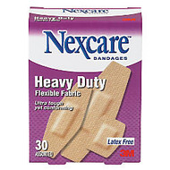 3M™ Nexcare™ Heavy-Duty Flexible Fabric Bandages, Assorted Sizes, Box Of 30