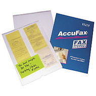 Accufax Reusable Fax Document Carriers, Letter Size, Clear, Pack Of 10