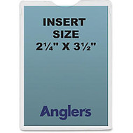 Anglers Self-stick Crystal Clear Poly Envelopes - File - 2.25 inch; Width x 3.50 inch; Length - Self-sealing - Polypropylene - 50 / Pack - Crystal Clear