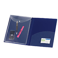Avery; Protect & Store™ Pocket Folders, Letter Size, Navy, Pack Of 3
