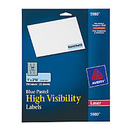 "Avery; Color Laser Address Labels, 1"" x 2 5/8"", Blue Pastel, Pack Of 750"