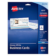 Avery; Inkjet Clean Edge Business Cards With Photo-Quality Glossy Finish, 2 inch; x 3 1/2 inch;, White, Pack Of 200