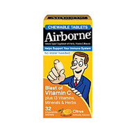 Airborne; Chewable Tablets, Citrus, Pack Of 32