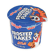 Kellogg's; Frosted Flakes; Cereal-In-A-Cup, 2.1 Oz, Pack Of 6