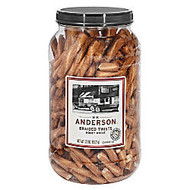 Anderson Pretzels, Honey Wheat Braided Pretzels, 23 Oz Tub