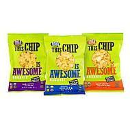 Awesome Organics This Chip Is Awesome Popcorn Chips Variety Pack, 1 Oz Bag, Box Of 24 Bags