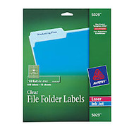 Avery; Clear Permanent Inkjet/Laser Filing Labels, 2/3 inch; x 3 7/16 inch;, Pack Of 450