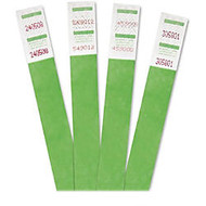 Advantus Tyvek Crowd Management Wristband - Green - 500 / Pack