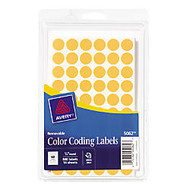Avery Round Color-Coding Label - Removable Adhesive - 0.50 inch; Diameter - 60 / Sheet - Circle - Orange - Paper - 840 / Pack