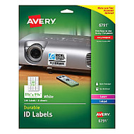 Avery; Durable Full-Sheet ID Labels, 1 1/3 inch; x 1 3/4 inch;, White, Pack Of 256