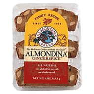Almondina All-Natural Cookies, Gingerspice, 4 Oz, Pack Of 12