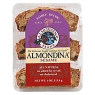 Almondina All-Natural Cookies, Sesame, 4 Oz, Pack Of 12