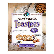 Almondina Toastees, Lemon Poppy Almond, 5.25 Oz, Pack Of 12 Bags