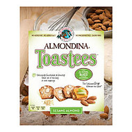 Almondina Toastees, Sesame Almond, 5.25 Oz, Pack Of 12 Bags