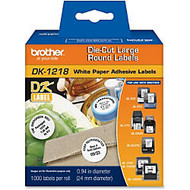 Brother DK1218 Label Tape, Line List, 1 inch; Round