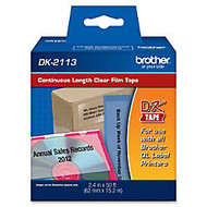 Brother DK2113 Label Tape, 2-3/7 X 50' Clear