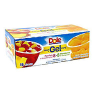 Dole Assorted Fruit In Gel Cups, 4.3 Oz, Box Of 16