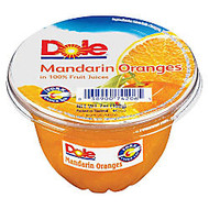 Dole Fruit Cups, Mandarin Oranges, 7 Oz, Carton Of 12