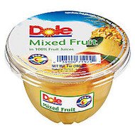 Dole Fruit Cups, Mixed Fruit, 7 Oz, Carton Of 12