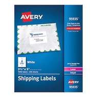 Avery; Bulk Shipping Labels, 3 1/2 inch; x 5 inch;, FSC Certified, White, Pack Of 1,000