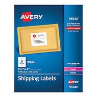 Avery; Bulk Shipping Labels, 3 1/3 inch; x 4 inch;, FSC Certified, White, Pack Of 1,500