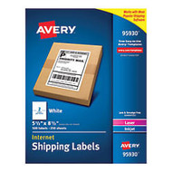 Avery; Bulk Shipping Labels, 5 1/2 inch; x 8 1/2 inch;, FSC Certified, White, Pack Of 500