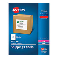 Avery; Bulk Shipping Labels, 8 1/2 inch; x 11 inch;, FSC Certified, White, Pack Of 250