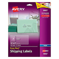 Avery; Easy Peel; Clear Inkjet Mailing Labels, 2 inch; x 4 inch;, Box Of 250