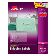 Avery; Easy Peel; Clear Laser Mailing Labels, 2 inch; x 4 inch;, Pack Of 100