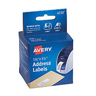 Avery; Thermal Permanent Address Labels™ For Label Printers, 1 1/8 inch; x 3 1/2 inch;, White, Box Of 260