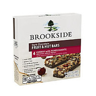 Brookside Dark Chocolate Fruit & Nut Bars, Cherry With Pomegranate, 4 Bars Per Box, Pack Of 2 Boxes