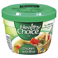 Healthy Choice Soup, Chicken With Rice, 14 Oz., Carton Of 12