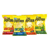Awesome Organics This Popcorn Is Awesome Variety Pack, 1 Oz, Box Of 24 Bags
