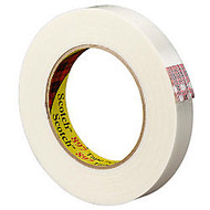 3M; 897 Strapping Tape, 3/8 inch; x 60 Yd., Clear, Case Of 96