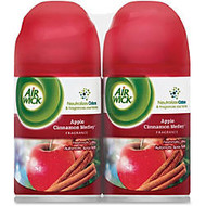 Airwick Apple/Cinnamon Scent Refill - Spray - 6.17 oz - Apple Cinnamon Medley - 60 Day - 2 / Pack - Odor Neutralizer, Long Lasting