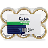 3M Tartan General Purpose Packing Tape - 1.89 inch; Width x 54.68 yd Length - 3 inch; Core - 1.90 mil - Rubber Resin Backing - Long Lasting, Strong - 6 / Pack - Clear