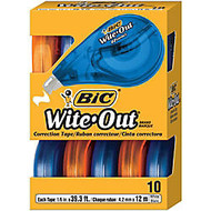 BIC; Wite-Out; Correction Tape, 471 3/5 inch;, Pack Of 10