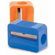 Baumgartens Single Pencil Sharpener - 1 Hole(s) - Plastic - Assorted