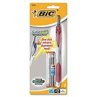 BIC Automatic Mechanical Pencil - #2 Lead Degree (Hardness) - 0.5 mm Lead Diameter - Refillable - Black Lead - Transparent Red Barrel - 1 Each