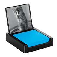 Post-it; Note Holder With Photo Frame, 3 inch; x 3 inch;, Black