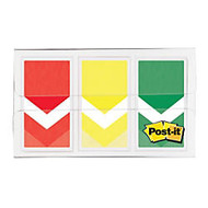 Post-it; Arrow Flags, 1 inch;, Prioritization, Stoplight Colors, 20 Flags Per Pad, Pack Of 3 Pads