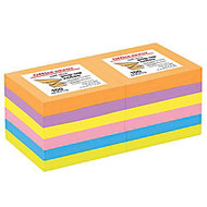 Office Wagon; Brand Pop-Up Notes, 3 inch; x 3 inch;, Assorted Deep Colors, 100 Sheets Per Pad, Pack Of 12